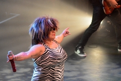 Ramaine performing as Tina Turner at the Barnyard Theatre Cape Town.